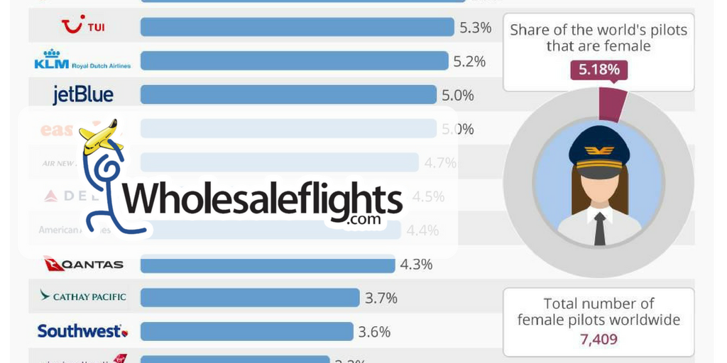 The Major Airlines With The Most Female Pilots